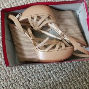 Brand new nude wedges